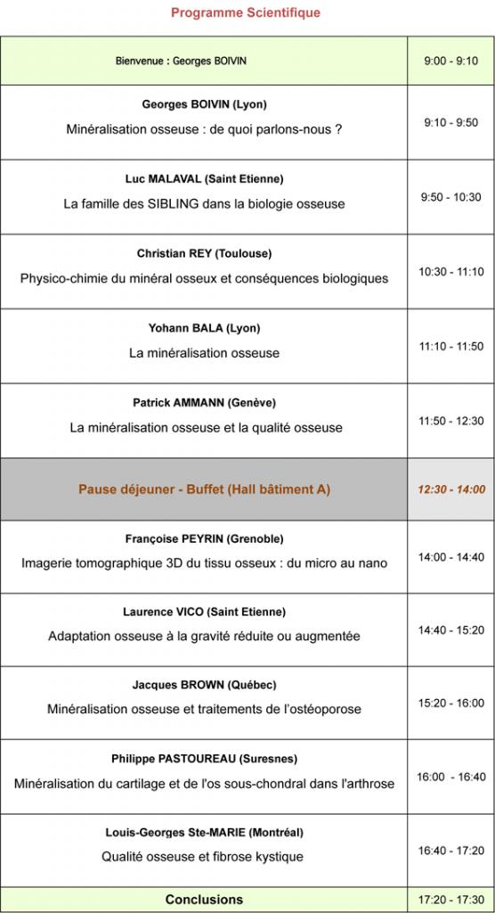 Programme seminaire